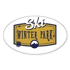 Ski Winter Park Patch Decal
