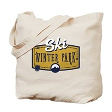 Ski Winter Park Patch Tote Bag