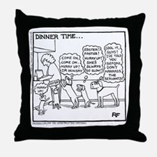 Dinner Time Throw Pillow