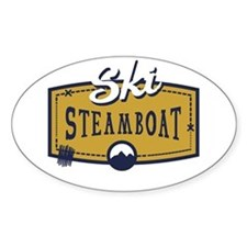 Ski Steamboat Patch Decal