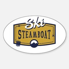 Ski Steamboat Patch Sticker (Oval)