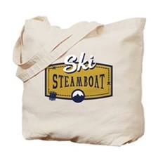 Ski Steamboat Patch Tote Bag
