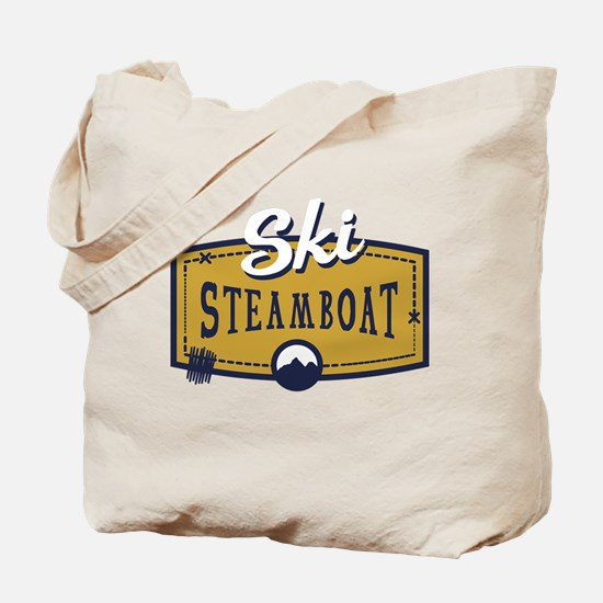 Ski Steamboat Patch Tote Bag