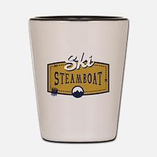 Ski Steamboat Patch Shot Glass
