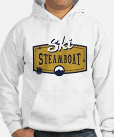 Ski Steamboat Patch Hoodie