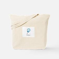 Blue Lollipop Tote Bag