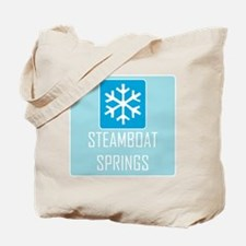 Steamboat Springs Snowflake Tote Bag