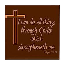 Philippians 4 13 Tile Coaster