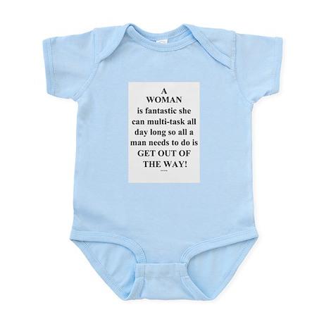 A Woman Infant Bodysuit