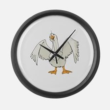 Friendly Goose Large Wall Clock