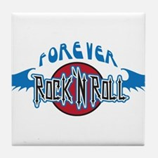 Forever Rock n Roll Tile Coaster