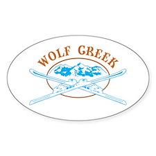 Wolf Creek Crossed-Skis Badge Decal