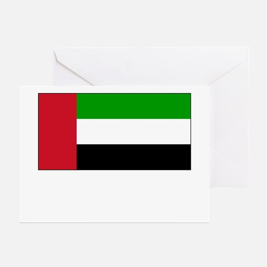 The United Arab Emirates Flag Picture Greeting Car