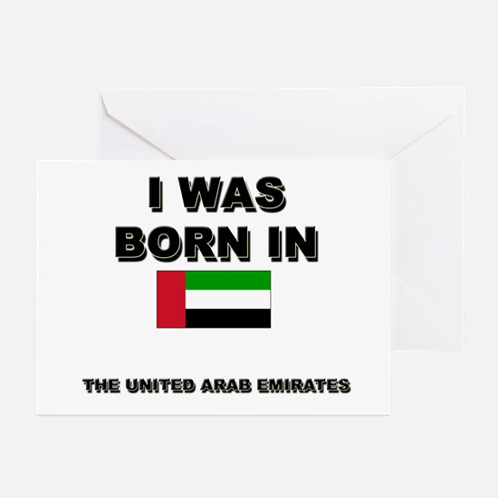 I Was Born In The United Arab Emirates Greeting Ca