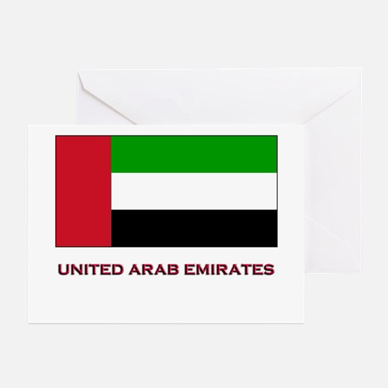 The United Arab Emirates Flag Gear Greeting Cards