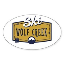Ski Wolf Creek Patch Decal