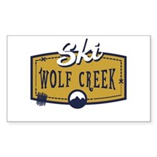 Ski Wolf Creek Patch Decal