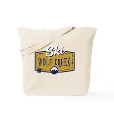 Ski Wolf Creek Patch Tote Bag