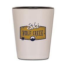 Ski Wolf Creek Patch Shot Glass