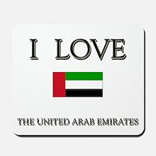 I Love The United Arab Emirates Mousepad