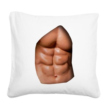 Ripped Abs Square Canvas Pillow