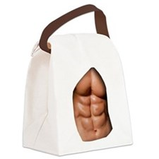 Ripped Abs Canvas Lunch Bag