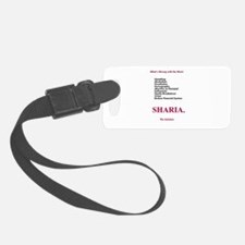 Sharia. The Solution Luggage Tag