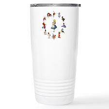All Around Alice In Wonderland Travel Mug