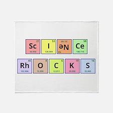 Science Rocks Throw Blanket