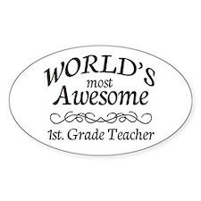1st. Grade Teacher Decal
