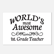 1st. Grade Teacher Postcards (Package of 8)