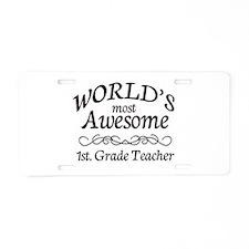 1st. Grade Teacher Aluminum License Plate