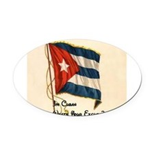 Funny quote about being cuban Oval Car Magnet