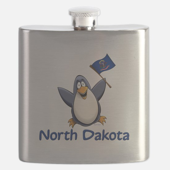 North Dakota Penguin Flask
