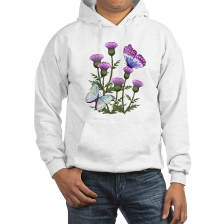 Thistles and Butterflies Hooded Sweatshirt