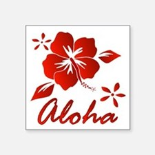 "Aloha Square Sticker 3"" x 3"""