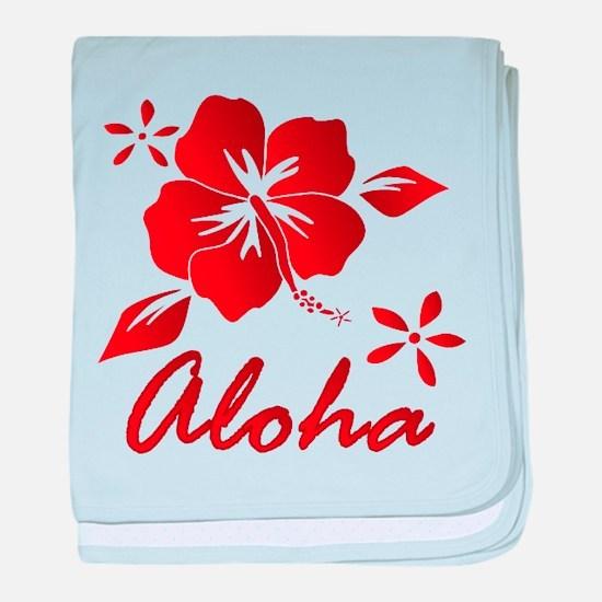 Aloha baby blanket