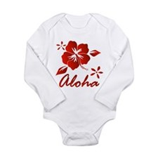Aloha Long Sleeve Infant Bodysuit