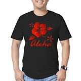 Aloha Fitted T-shirts (Dark)