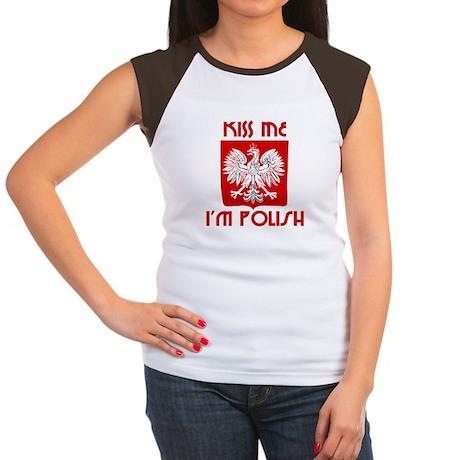Kiss me, I'm Polish - Women's Cap Sleeve T-Shirt