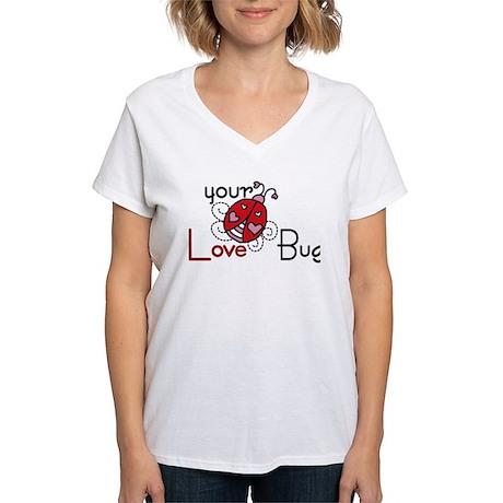 Your Love Bug Women's V-Neck T-Shirt