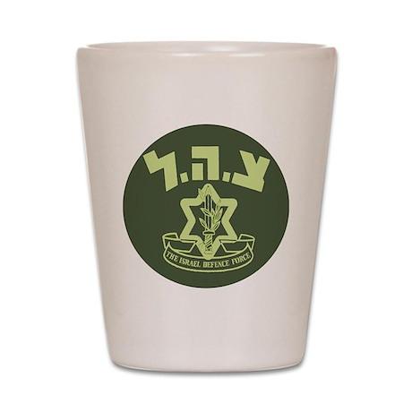 Tzahal Logo Shot Glass