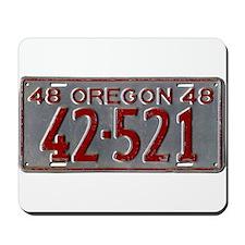 1948 Oregon License Plate Mousepad