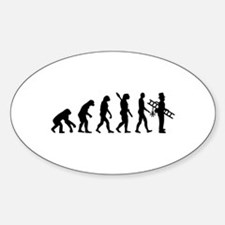 Chimney sweeper evolution Sticker (Oval)