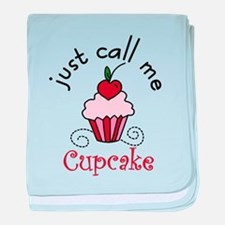 Just Call Me Cupcake baby blanket