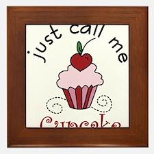 Just Call Me Cupcake Framed Tile