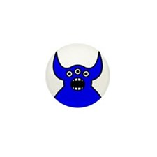 Kawaii Blue Alien Monster Mini Button (100 pack)