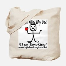 Cancer Killed My Dad Stop Smo Tote Bag