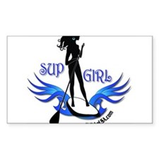 SUP GIrl Paddleboarder Decal