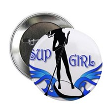 "SUP GIrl Paddleboarder 2.25"" Button"